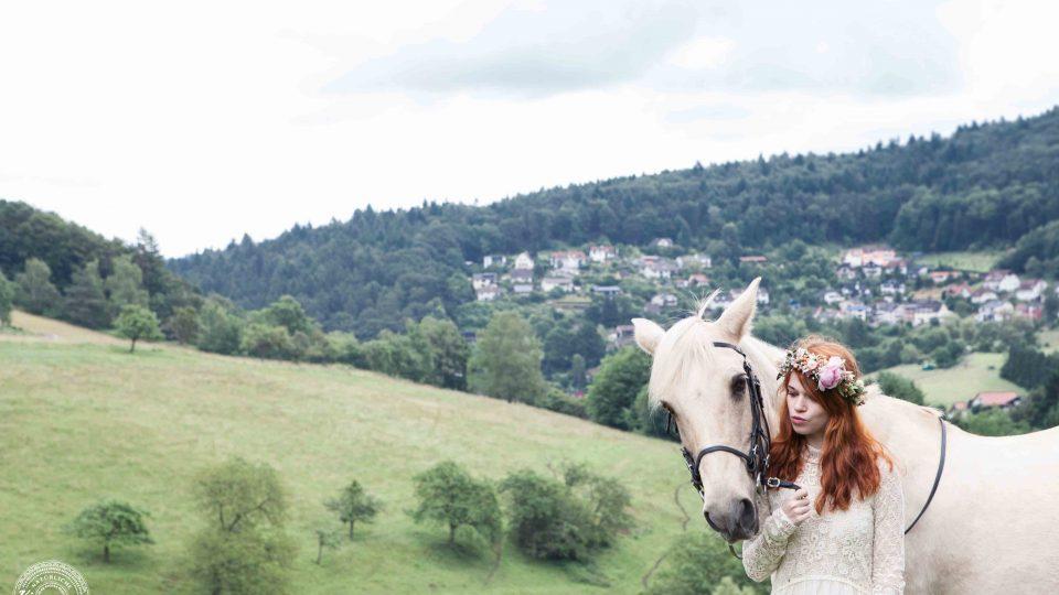 Boho Photoshooting mit Pferd