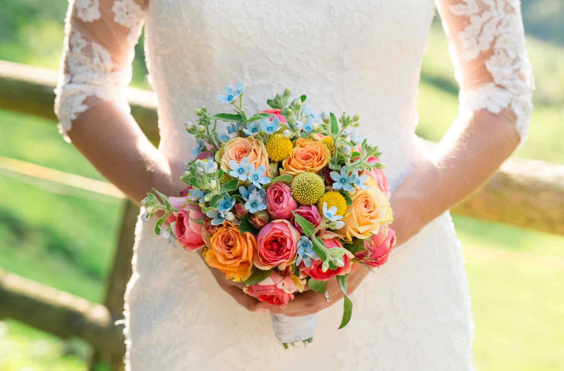 Hochzeit Hofgut Hohenstein Brautstrauß