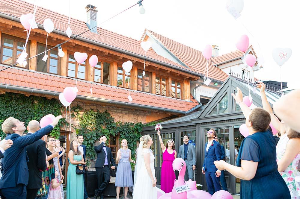 Hochzeitsfeier auf dem Landgut Lingental